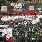 В Риме прошла массовая манифестация в поддержку традиционной семьи