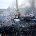 Традиционные погромы прошли в Киеве в день Евромайдана (прямой эфир)