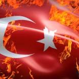 Сжигают Турецкий флаг