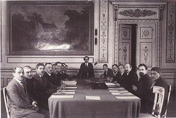 Момент подписания договора, 16 марта 1921 год.