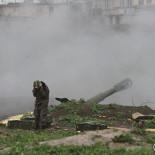Armenian artillery position of the self-defense army of Nagorno-Karabakh in Martakert
