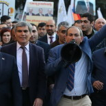 Members of 'Elq' Alliance hold a march within the framework of the pre-election campaign in Yerevan, Armenia