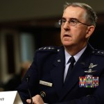 U.S. Air Force General John Hyten, Commander of U.S. Strategic Command, testifies in a Senate Armed Services Committee hearing on Capitol Hill in Washington, U.S., April 4, 2017. REUTERS/Yuri Gripas - RC12B68C0D40